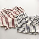 border flare sleeves long t-shirt