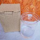 ■テラリウムガラス容器 蓋付キャニスター深型 Sサイズ