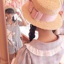 181BC24 リボンカンカン帽