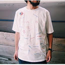 "CAL O LINE  (キャルオーライン)""USA"" EMBROIDERY T-SHIRT"