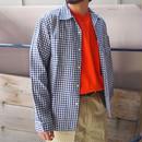 HOLLYWOOD RANCH MARKET(ハリウッドランチマーケット) ブルーチェック オープンカラーシャツ
