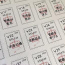 切手風シール #サビアンシンボル物語  「第2集 牡牛座」ホワイト