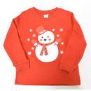 クリスマス限定!!キッズ&ベビーちゃん用トレーナー/可愛い雪だるま柄/綿100%/送料無料/サイズ90