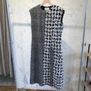 AMBELL アンベル グレンチェク×ハウンドトゥースのドレス
