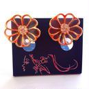 神戸セレクション認定 JEWELCASKET 耳が痛くならないエアイヤリング お花 フラワー ピンク 日本製 MADEINJAPAN 大人可愛い