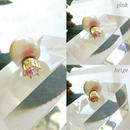 神戸セレクション認定 JEWELCASKET マグネットピアス イヤリングコットンパール×ゴールド クリア ピンク ベージュ ギフト プレゼント