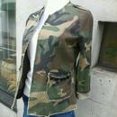 [たまにはワイルドに♪]missmissミスミス ジャケット ブルゾン カモフラ 迷彩 コットン カーキ イタリア製 MADEINITALY