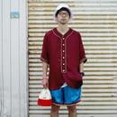 "VOTE MAKE NEW CLOTHES ""SATIN BASEBALL SHIRTS"" (マルーン)"