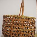 【中古】手作りりんご収穫用竹手提げ籠2個入り /訳あり使用済USEDアンティーク風手作りりんご収穫用 手提げ竹籠