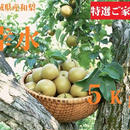 8月:【予約】無化学肥料栽培!宮城県産ブランド和梨(幸水)5kg:ご家庭用/送料無料