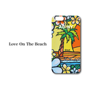 "iPhone 6/6S/7/8 Plus XsMax対応 ハードケースカバー ""Love On The Beach"""
