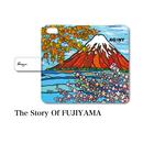"iPhoneシリーズ対応 手帳型カバー ""The Story Of FUJIYAMA"""