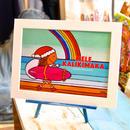 クリスマスアートプリントA4サイズ フレーム付
