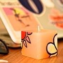 """数量限定!!MeltingPot × ICHI NO YUME オリジナルキャンドル """"Plumeria&Sun"""" ORANGE"""