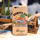 iPhoneシリーズ  XperiaZ5  対応  ウッドケース〝SURF7S UP〟