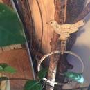 【古道具33】 アイアンの小鳥のタオルホルダー