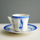 Vintage/France 浮かぶ帆船のカップ&ソーサー