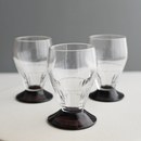 Vintage/France パープルレッグのPetitグラス 3個セット