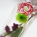 迎春ハーバリウム M【red & purple】