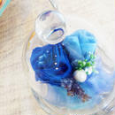 プリザーブドローズのミニガラスドーム【deep blue】