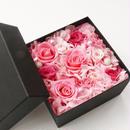 プリザーブドローズのボックスアレンジメントM【pink】
