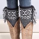 bohemian knit leg warmers