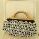 手織物ハンドバッグ Bernadette、Bi's オリジナル、trois temps