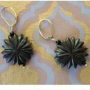 黒檀「花のピアス」、Bijoux  Kei