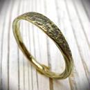 真鍮製石目調テクスチャーリング/幅の細いタイプ