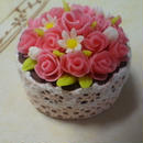 バラの花かご