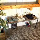 男前な西海岸 国産ウッド・古材アイアンテーブル ジャーナルスタンダード什器 ヴィンテージモデル