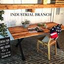 男前なインテリア インダストリアル CROSSダイニングテーブル 無垢材 I-Branch Amelia【送料無料】(T5)