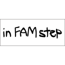 """in FAM step"" logo sticker"