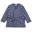 STRIPE BLANKET FLEECE GOWN