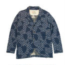 S  JACQUARD HANABI FLEECE JACKET -MIX NAVY-