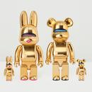 Hajime Sorayama x BE@RBRICK and R@BBRICK  400% +100%  GOLD