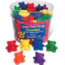 Learning Resources Three Bear Family Rainbow Counters カラフルカウンター くまの家族