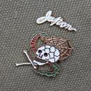 """SKULL SNAKE"" Souvenir Pin Set"
