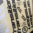 Decal Kit  (Type: Frame / Headbadge, Color: Black / White)