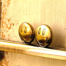 【HA-1240】スマイル刻印の碁石口金 12cm/角型(アンティークゴールド)