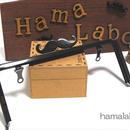 【HA-307】ヒゲ口金/18cm角型(ブラック)・兼用カン付き