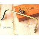 9月21日販売開始!【HA-1529】24cm角型口金(うさぎ×アンティークゴールド)+(プラス)