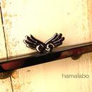 【HA-805】27cm「天使の羽」の口金/角型(ブラック)カン付き
