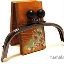 【HA-329】12.5cm/くし型(黒色の木玉×ブラック)
