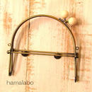 【HA-1452】16cmベンリー口金/(白玉×アンティークゴールド)・カン付き