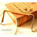 5月16日販売開始!【HA-1422】<横ひねり>12cm/角型の口金(メタルスター×ゴールド)