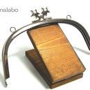 【HA-185】メタルスター口金(15cmくし型シルバー)・カン付き