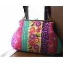【KT-3001】大きな小銭入れ型がま口バッグの型紙&レシピ【27cm用】