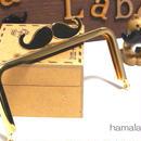 【HA-301】ヒゲ口金/12cm角型(ゴールド)