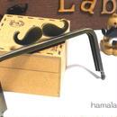 【HA-304】ヒゲ口金/12cm角型(アンティークゴールド)